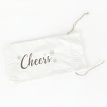 5x15x.25 linen wine bag (CHEERS) wh/bn/gy