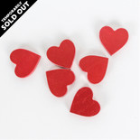 1.75x1.75x.25 wood shape tiles s/6 (HEARTS) red