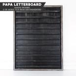 24x32x1.5 wood framed sign (LETTERBOARD) black