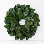 """16.5"""" wreath preserved (MAGNOLIA) green (Indoor Use Only)"""
