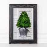 "12.5"" x 17.5""x 3.15"" tower frame (BOXWOOD) white/black/green (Indoor Use Only)"