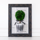 "12.5"" x 17.5"" x 3.15""  frame (BOXWOOD TOPIARY) white/black/green (Indoor Use Only)"