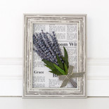 "7.5"" x 10"" x 2.5"" frame (LAVENDER) white/purple (Indoor Use Only)"