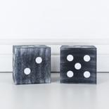 4x4x4 wd dice S/2 bk/wh
