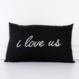 20x12x4 canvas pillow (I LV US) bk/wh