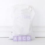 11x19.75x.25 bag 70 pcs 1.5x1.75x.25 (LAVENDER LTRS) pl/wh
