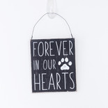 5x6x.25 hanging wood sign (FRVR HRT) bk/wh