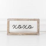 10x5x1.5 wood frmd sign (XOXO) cl/bk