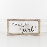 10x5x1.5 wood frmd sign (GIRL) cl/bk