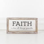 10x5x1.5 wood frmd sign (FAITH) cl/bk