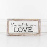 10x5x1.5 wood frmd sign (LOVE) cl/bk