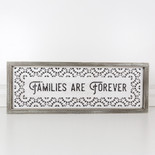27.5x10x1.5 wood frmd sign (FAMILIES) wh/bk