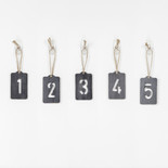 2.5x4x.25 wood tag s/5 (NUMBERS) black
