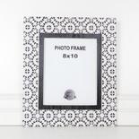 14x16x.5 wood photo frame (MOSAIC) wh/bk (8x10)
