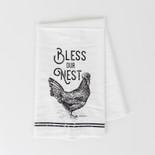 24x17 tea towel (NEST) wh/bk