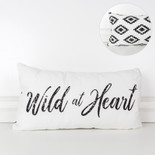 22x12x4 canvas pillow (WILD) wh/bk
