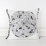 16x16x4 canvas pillow (WEAVE) wh/bk