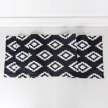 14x74 canvas table runner (AZTEC) bk/wh