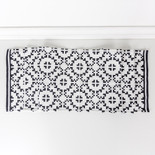 14x74 canvas table runner (MOSAIC) wh/bk