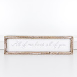 18x4.5x1.5 wood frmd sign (ALL) wh/gy