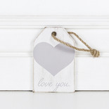 2.5x4x.25 wood tag (LV YOU) wh/gy