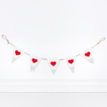 36x6x.15 canvas banner (HEARTS) wh/gy/rd