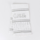 24x17 tea towel (BLM GRCE) wh/gy