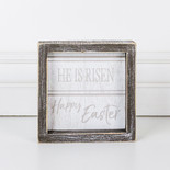 6x6x1.5 wd frmd sign (HPY EASTER) wh/gy