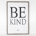 24x36x1.5 frmd sn (BE KIND) wh/bk