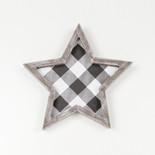 10x10x1.5 wd frmd star wh/bk