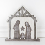 13x14x1.5 wd cutout (NATIVITY) wh/bn