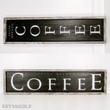 37x9x1.5 wd frmd rvs sn (COFFEE) bk/wh