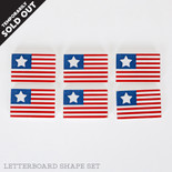 2.75x1.75x.25 wd shapes s/6 (FLAGS) rd/wh/bl