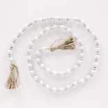 48x.5 wd bead garland wh/bl