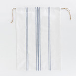 17x24 linen drwstrg bag (STRIPES) wh/bl