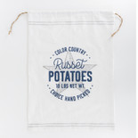 17x24 linen drwstrg bag (POTATO) wh/gy