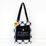 13x14x3 cnvs bag (HPY HLWN) bk/wh/or/yl