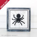 7x7x1.5 wd frmd sn (SPIDER) wh/bk/gy