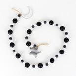 40x2.5x.15 wd bead grlnd (MN/STR) bk/gy/wh
