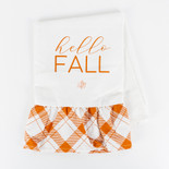 15x24 dsh twl (HELLO FALL) wh/or