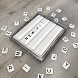 15x13x1.5 Letterboard Kit wh/bk