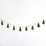 "84"" ornament garland (TREE) gn/wh"