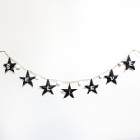 "84"" ornament garland (BLV) bk/wh"
