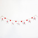 "84"" ornament garland (BLV) wh/rd"