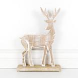 9x15x2.5 mngo wd reindeer on stnd wh