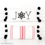 20x10 rvsbl linen plw (JOY) wh/rd/bk