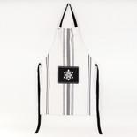 24.25x36.5 cotton apron (SNWFLK) wh/bk