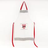 24.25x36.5 cotton apron (CNDY CNS) wh/bk/rd