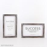 6x10x1.5 rvs wd frmd sn (SUCCESS) wh/bk