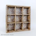 13x13x3 wd bvg tray (BAMBOO) bn/ntrl